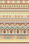 Stripe ethnic pattern wallpaper — Stock Vector