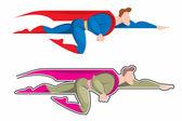 Vector superman — Stock Vector