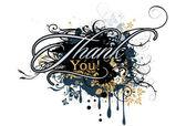 """Napis """"dziękuję"""" — Wektor stockowy"""