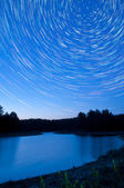 Startrails over Kingston Lake — Stock Photo