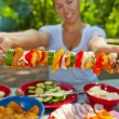 Skewers on Camping — Stock Photo #11312431
