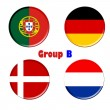 Stock Photo: Group b euro 2012