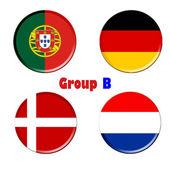 Group b euro 2012 — Stock Photo