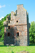 Greenknowe tower ruin from east side — Stock Photo
