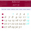 Calendar for may 2013 — Stock Photo
