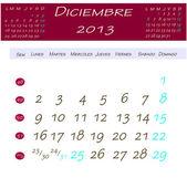 Calendario per dicembre 2013 — Foto Stock