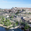 Distant view of the the Spanish city of Toledo — Stok fotoğraf
