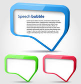 Colorful 3d bubble speech — Stock Vector