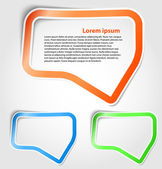 Speech bubbles as sticker — Stock Vector