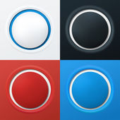 Colorful 3d buttons — Stock Vector