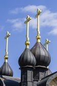 Christs on domes — Stock Photo