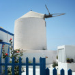 Stock Photo: Windmill on Santorini island, Greece