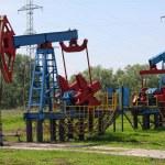 An oil pump jack — Stock Photo