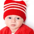 Sad boy in Red Hat — Stock Photo