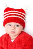 Kırmızı şapkalı çocuk üzücü — Stok fotoğraf