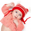 Stock Photo: Joyful baby in a hat