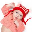 Joyful baby in a hat — Stock Photo