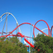 Stock Photo: Red Roller Coaster