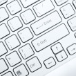 Royalty-Free Stock Photo: White computer keyboard