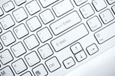 White computer keyboard — Stock Photo