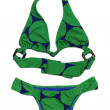 Bikini in green on a white background — Stock Photo