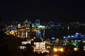 Night view of the city of Baku. Azerbaijan — Stockfoto