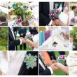 Garden party wedding - collage of images — Stock Photo