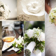 Wedding theme collage composed of different images — Stock Photo #12360241