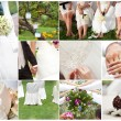 Wedding theme collage composed of different images — Stock Photo #12360326