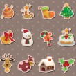 Stock Vector: Xmas element stickers