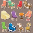Chair stickers — Imagen vectorial