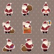 Cartoon santa claus Christmas stickers — Stock Vector #10771031