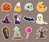 Halloween stickers — Stock Vector