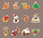 Xmas element stickers — Stock Vector
