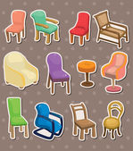 Chair stickers — Stock Vector