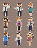 Set of reporter stickers — Stock Vector