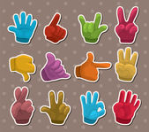 Finger sticker — Stock Vector