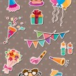 Birthday stickers — Stock Vector #10910529