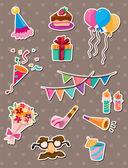 Birthday stickers — Stock Vector