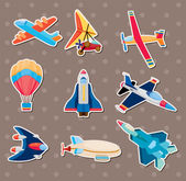 Airplane stickers — Stock Vector