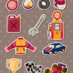 F1 racing stickers — Stock Vector