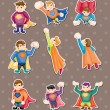 Superman stickers - Stock Vector
