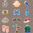 Travel element stickers - Stock Vector
