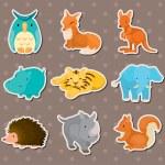 Animal stickers — Stock Vector