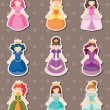 Princess stickers — Stock Vector