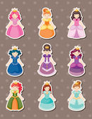 Princess stickers — Stockvector