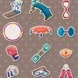 Sport element stickers - Stock Vector
