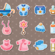 Baby stickers - Stock Vector