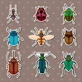 Insect stickers — Stock Vector