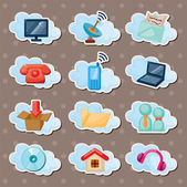 Cloud web stickers — Stock Vector